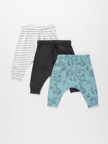 מארז 3 מכנסיים ארוכים מבד ג'רסי דק / 6M-3Y של TERMINAL X KIDS