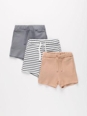 מארז 3 מכנסיים קצרים פרנץ' טרי / 3M-6Y של TERMINAL X KIDS