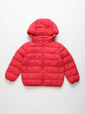 מעיל קווילט עם קפוצ'ון Light warm padded parka / בנות של UNIQLO