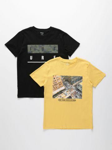 מארז 2 חולצות עם הדפסים שונים / בנים של FOX