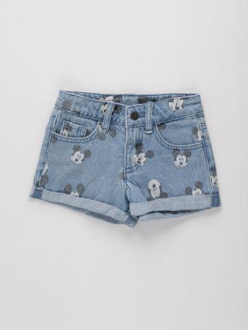 ג'ינס קצר בהדפס דיסני / בנות של FOX