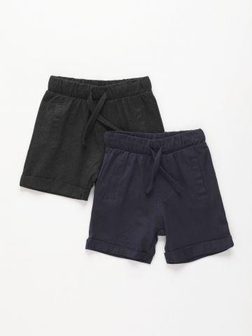 מארז 2 מכנסי ברמודה קצרים / 3M-3Y של FOX