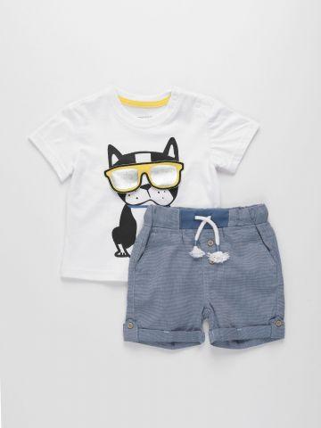 סט מכנסיים וחולצה עם הדפס / 3M-2Y של FOX