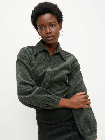 חולצת קורדורוי מכופתרת של GLAMOROUS