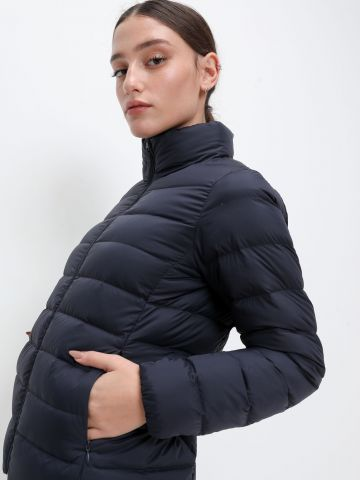 מעיל קווילט עם צווארון גבוה Ultra light down jacket של UNIQLO