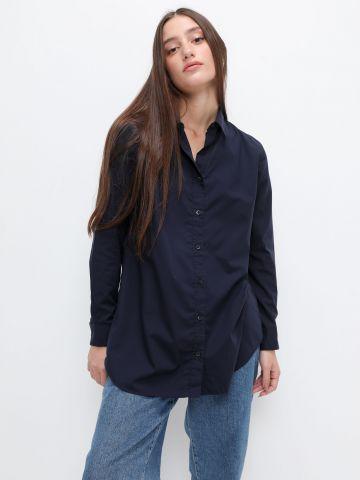 חולצה מכופתרת לונגליין של UNIQLO