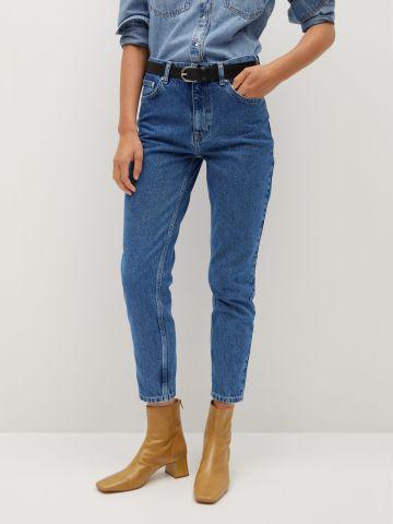 ג'ינס בגזרה גבוהה Mom של MANGO
