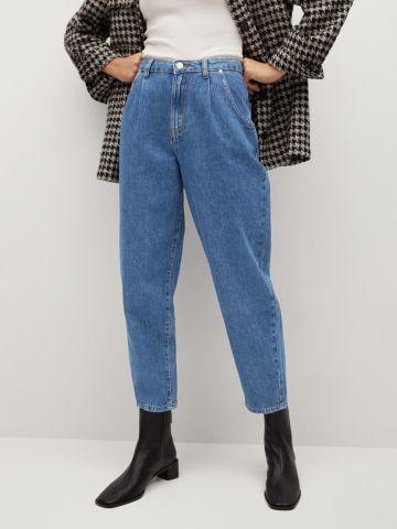 ג'ינס גבוה בגזרה רחבה Slouchy של MANGO