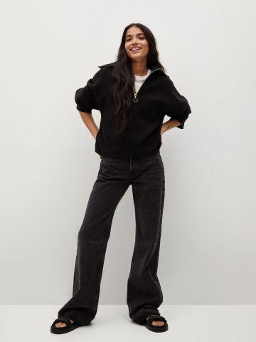 ג'ינס בגזרה רחבה של MANGO