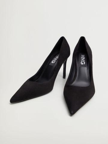 נעלי עקב זמש של MANGO