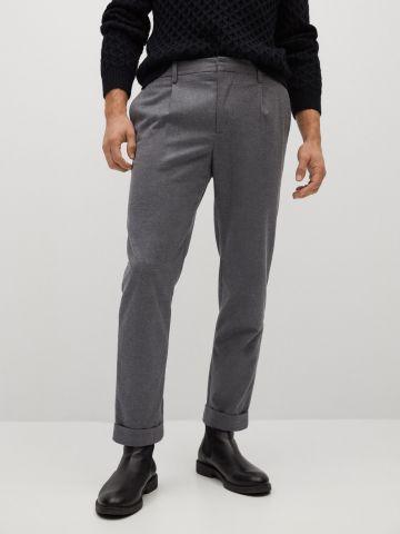 מכנסי טרנינג מחויטים Slim-Fit של MANGO