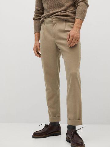 מכנסיים מחויטים Slim Core Temp של MANGO