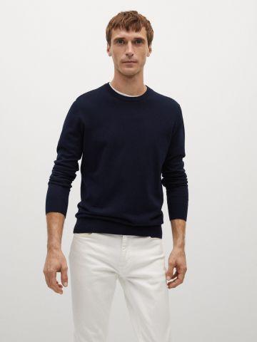 סוודר עם שוליים ריב של MANGO