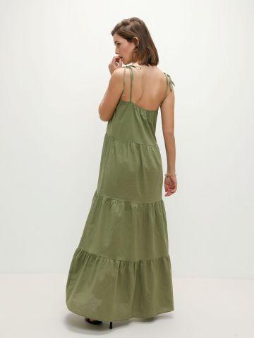 שמלת פשתן מקסי בסגנון קומות של TERMINAL X