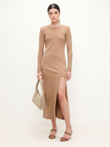 שמלת מידי ריב עם שסע של TERMINAL X