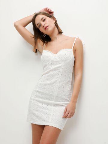 שמלת מיני עם רקמת פרחים של TERMINAL X