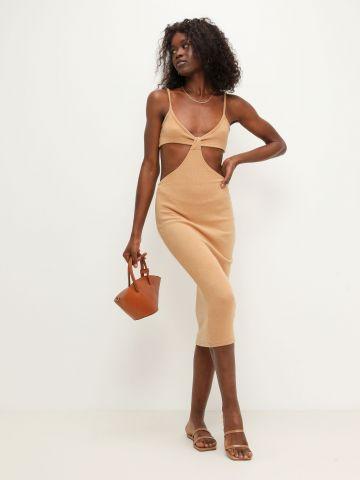 שמלת מידי סרוגה עם פתחים של TERMINAL X