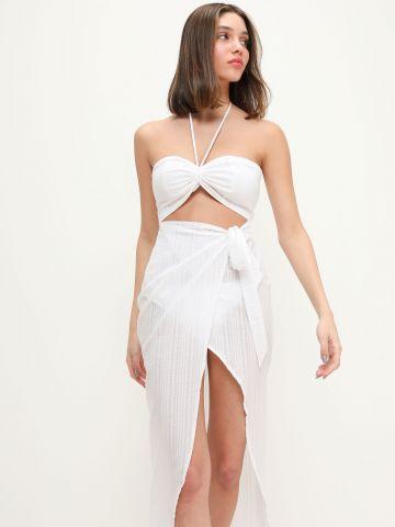 שמלת חוף מעטפת בגזרת סטרפלס של TERMINAL X