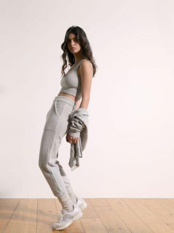 מכנסי טרנינג סרוגים מלאנז' של TERMINAL X