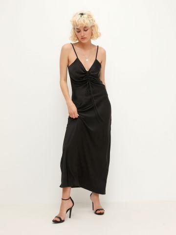 שמלת מקסי עם כיווצים בחזה של TERMINAL X