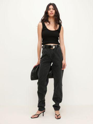 ג'ינס באגי רחב בגזרה גבוהה של TERMINAL X