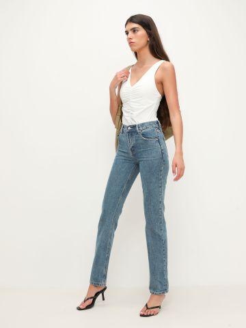 ג'ינס גבוהה בשטיפה בהירה של TERMINAL X