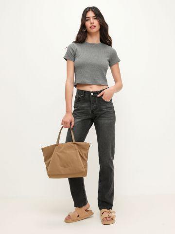 ג'ינס בגזרת Mom בסיומת גזורה של TERMINAL X