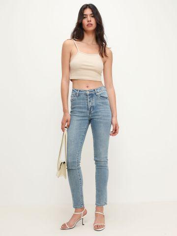 ג'ינס סקיני בשטיפה בהירה של TERMINAL X