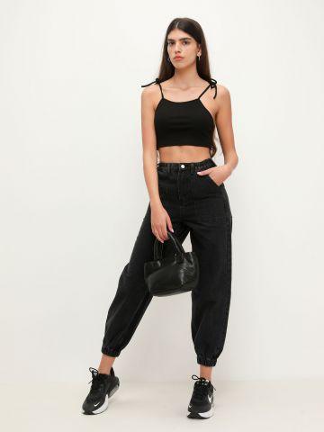 ג'ינס רחב עם סיומת גומי של TERMINAL X