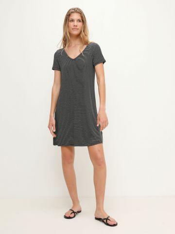 שמלת טי שירט בהדפס פסים של FOX