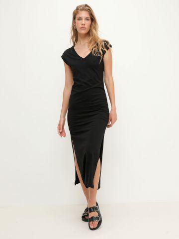 שמלת טי שירט בסיומת שסעים של FOX