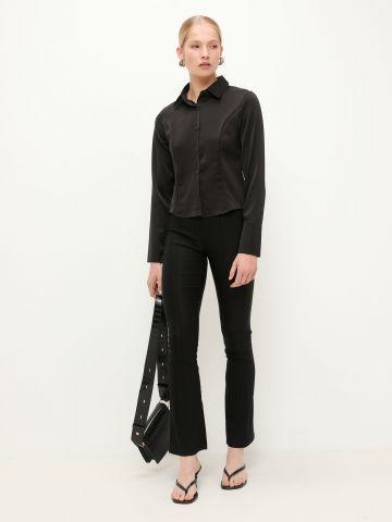 חולצת סאטן מכופתרת של TERMINAL X