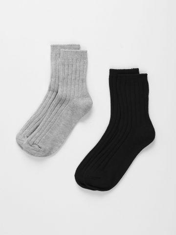 מארז 2 זוגות גרביים פסים / נשים של TERMINAL X
