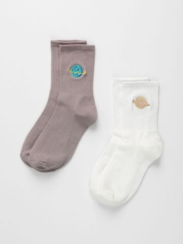 מארז 2 זוגות גרביים חלל / נשים של TERMINAL X
