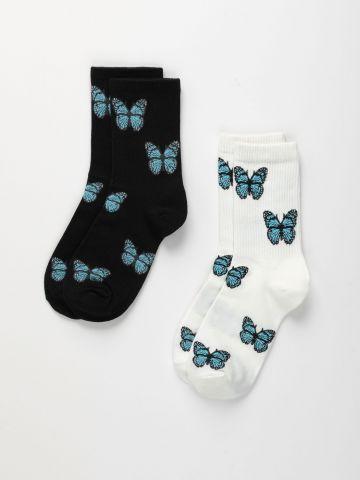 מארז 2 זוגות גרביים פרפרים / נשים של TERMINAL X