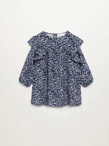 חולצת מלמלה בהדפס פרחים / 12M-5Y של MANGO