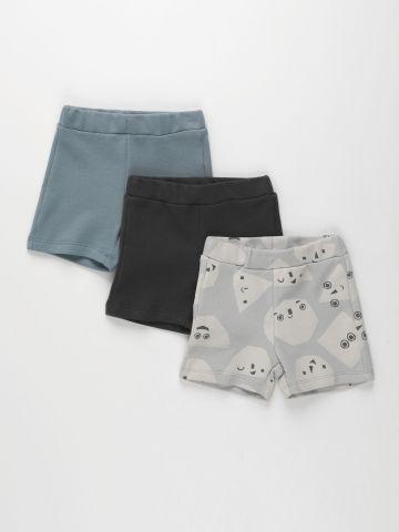מארז 3 מכנסי פרנץ' טרי בהדפסים שונים / 3M-4Y של TERMINAL X KIDS