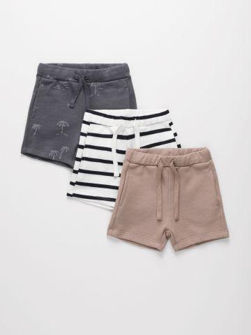מארז 3 מכנסי פרנץ' טרי קצרים בצבעים שונים / 3M-6Y של TERMINAL X KIDS