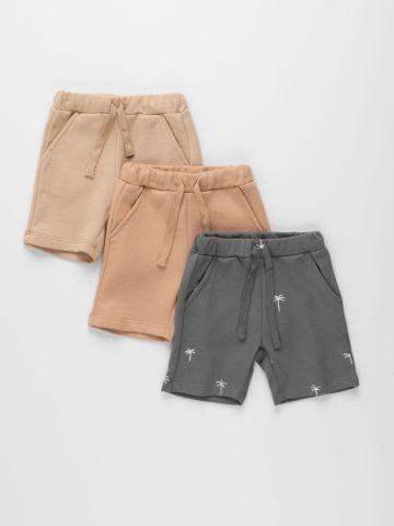 מארז 3 מכנסי פרנץ' טרי בצבעים שונים / 3M-10Y של TERMINAL X KIDS