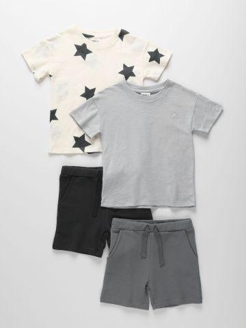 מארז 2 חליפות גן טי שירט ומכנסי פרנץ' טרי בצבעים שונים / 6M-6Y של TERMINAL X KIDS