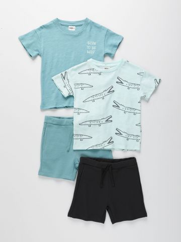 מארז 2 סטים טי שירט ומכנסי פרנץ' טרי בצבעים שונים / 6M-6Y של TERMINAL X KIDS