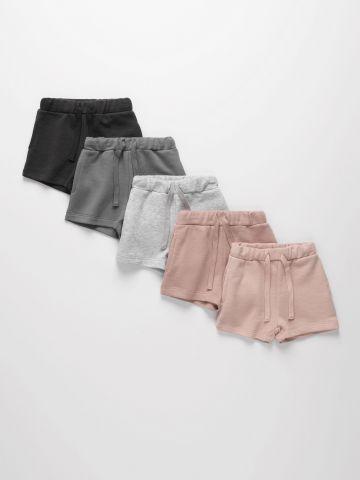 מארז 5 מכנסי פרנץ' טרי קצרים בצבעים שונים / 3M-14Y של TERMINAL X KIDS