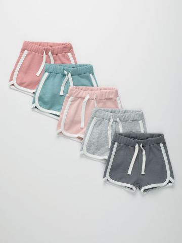 מארז 5 מכנסי פרנץ' טרי קצרים עם שוליים מודגשים / 3M-14Y של TERMINAL X KIDS