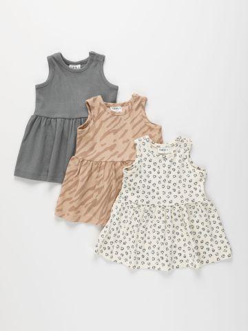 מארז 3 שמלות ריב בהדפסים שונים / 3M-5Y של TERMINAL X KIDS
