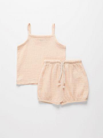 סט גופייה ומכנסיים טטרה / 3M-3Y של TERMINAL X KIDS