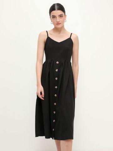 שמלת מידי מתרחבת עם כפתורים של FOX