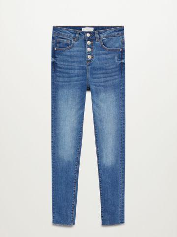 ג'ינס ווש סקיני בסיומת גזורה / בנות של MANGO