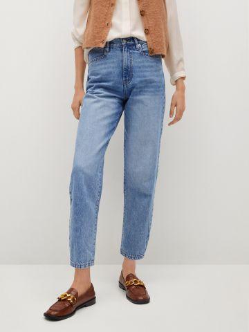 ג'ינס קרופ בגזרה גבוהה Slouchy של MANGO