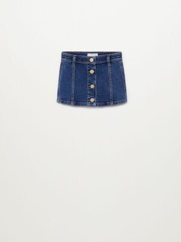 חצאית ג'ינס עם כפתורים / 9M-4Y של MANGO