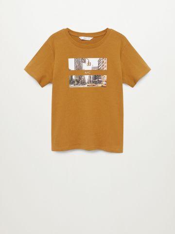 טי שירט עם הדפס NYC / בנים של MANGO
